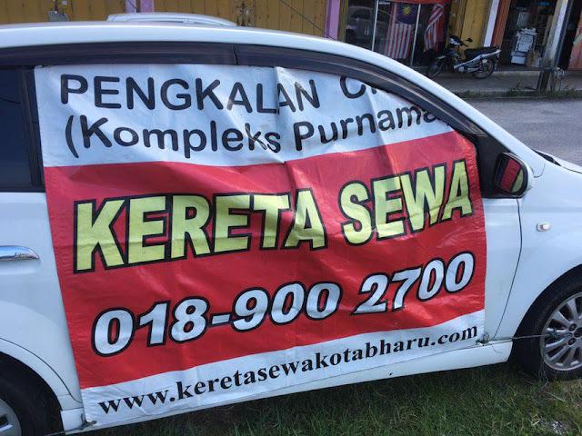 Kereta sewa murah di Kelantan