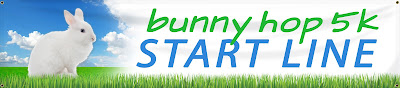 Bunny Hop 5K Start Line Banner | Banners.com