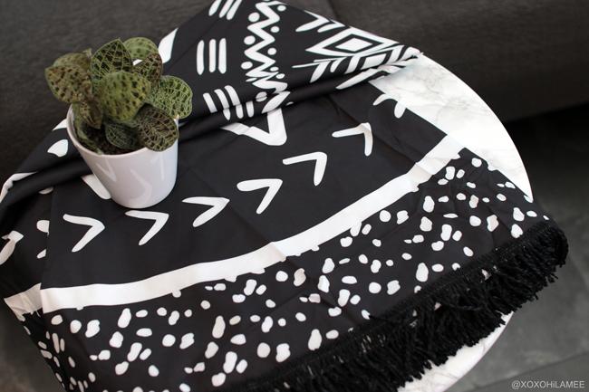 日本人ファッションブロガー,MizuhoK,NEW IN-NEW IN | クロシェトライアングルビキニ,リーフプリントハイネックビキニ、ラウンドビーチタオル FROM Rosegal