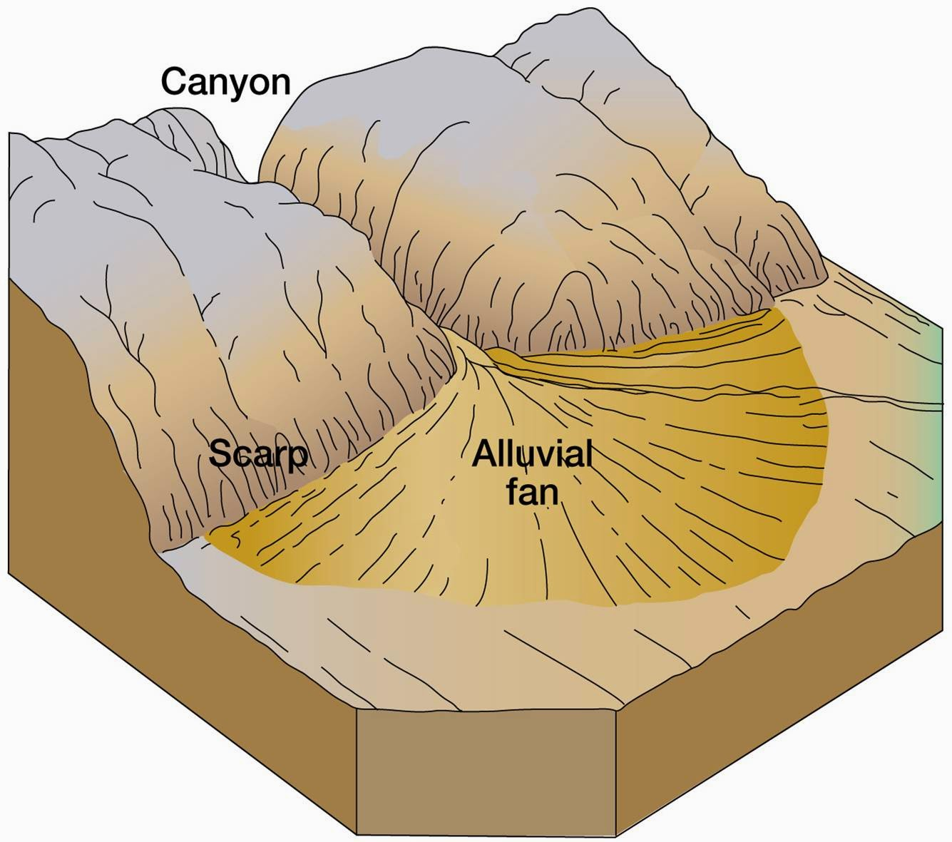 Alluvial Fan Diagram Wiring 12 Volt Geology 1403 Physical