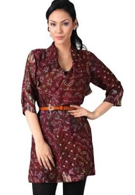 Model hem batik wanita desain casual modern