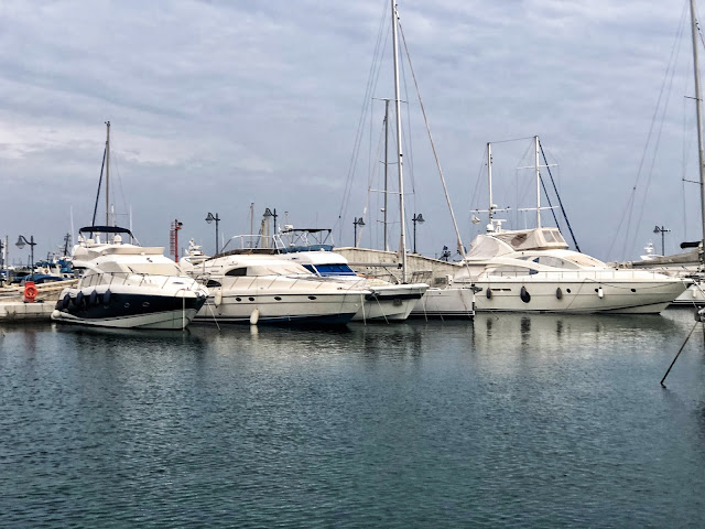 Boats in a harbour in Cyprus