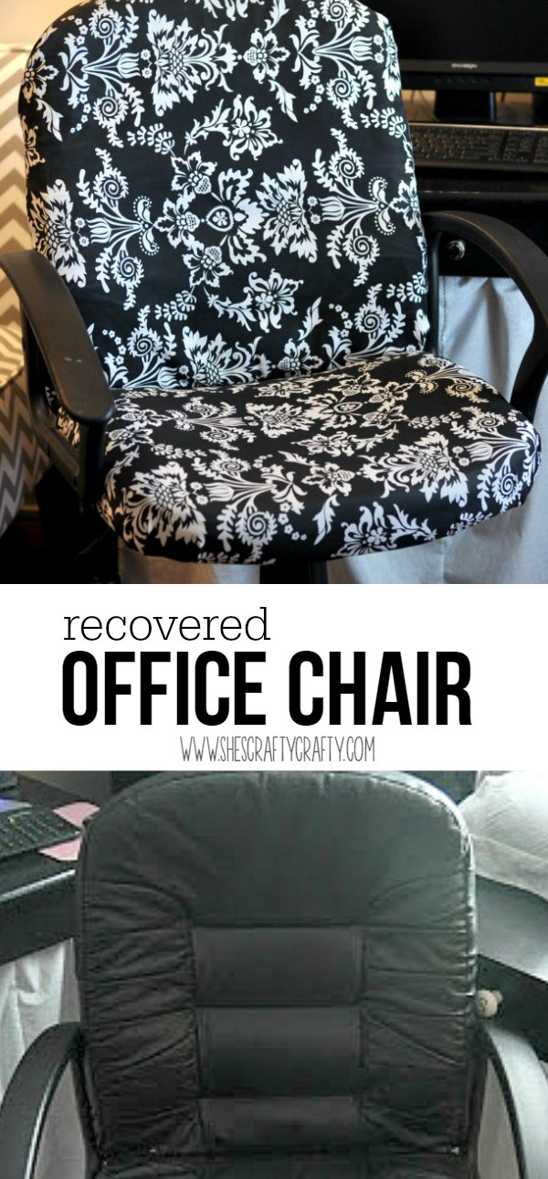 plain black office chair, recovered office chair