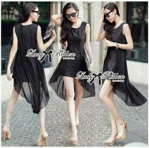 Dress Lady Ribbon Black