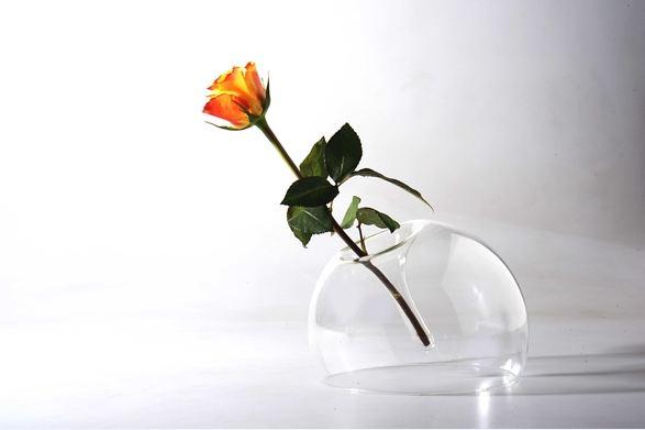 Vaso portafiori reversibile vetro borosilicato soffiato a - Portafiori in vetro ...