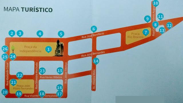 Mapa Roteiro Turístico Nos Passos do Café