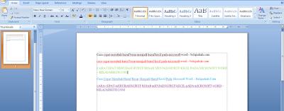 Cara Cepat Merubah Huruf Besar Menjadi Huruf Kecil Pada Microsoft Word