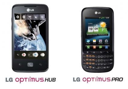 LG Optimus Pro dan LG Optimus HUB