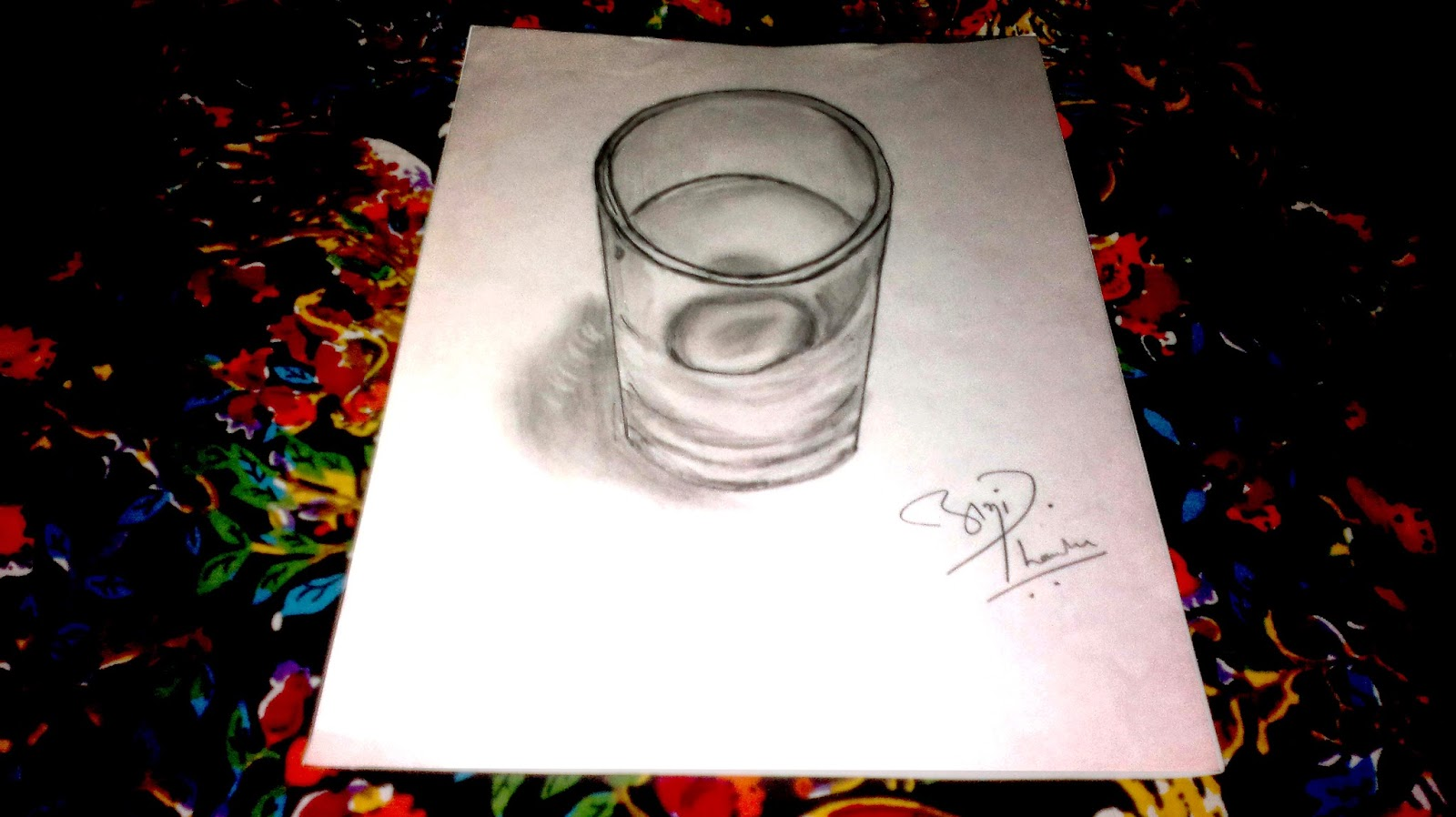 3D Glass Sketch by Abhishek Thamke