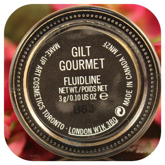 Swatches ~ Mac Gilt Gourmet Fluidline