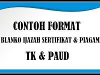 Download Contoh Format Blanko Ijazah Sertifikat Dan Piagan TK Terbaru