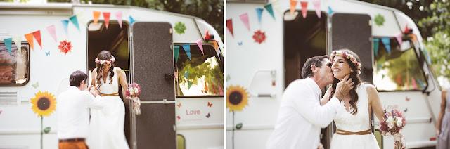 caravana vintage boda