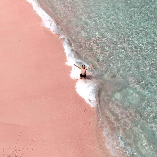 foto pantai pink lombok timur