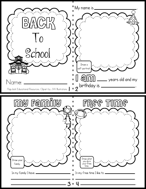 FlapJack Educational Resources: Back to School Mini Book