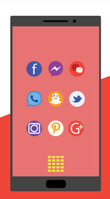 Aplikasi Minimal Color Icon Pack Pastel Android