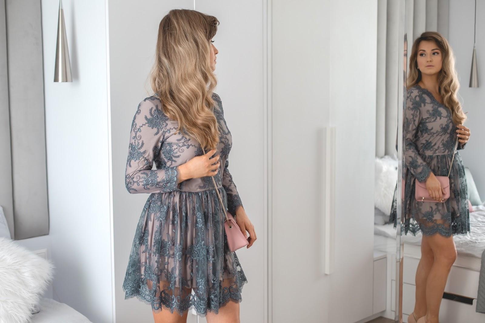 Stylizacja Na Wesele W Styczniu Koronkowa Sukienka I