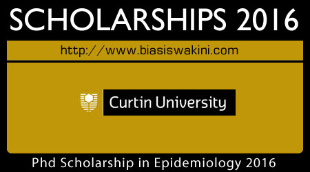 PhD Scholarship 2016 In Epidemiology