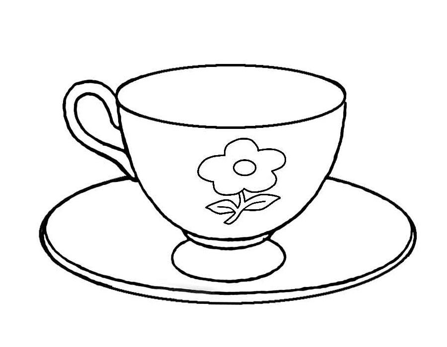 Чайник с чашкой рисунок 4