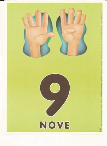 Cartazes de Numerais | Número nove