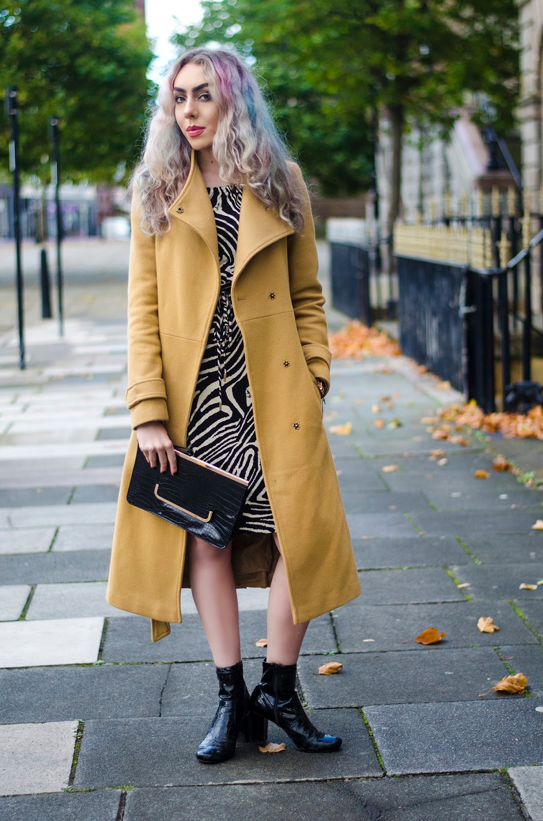 asos beige trench coat outfit
