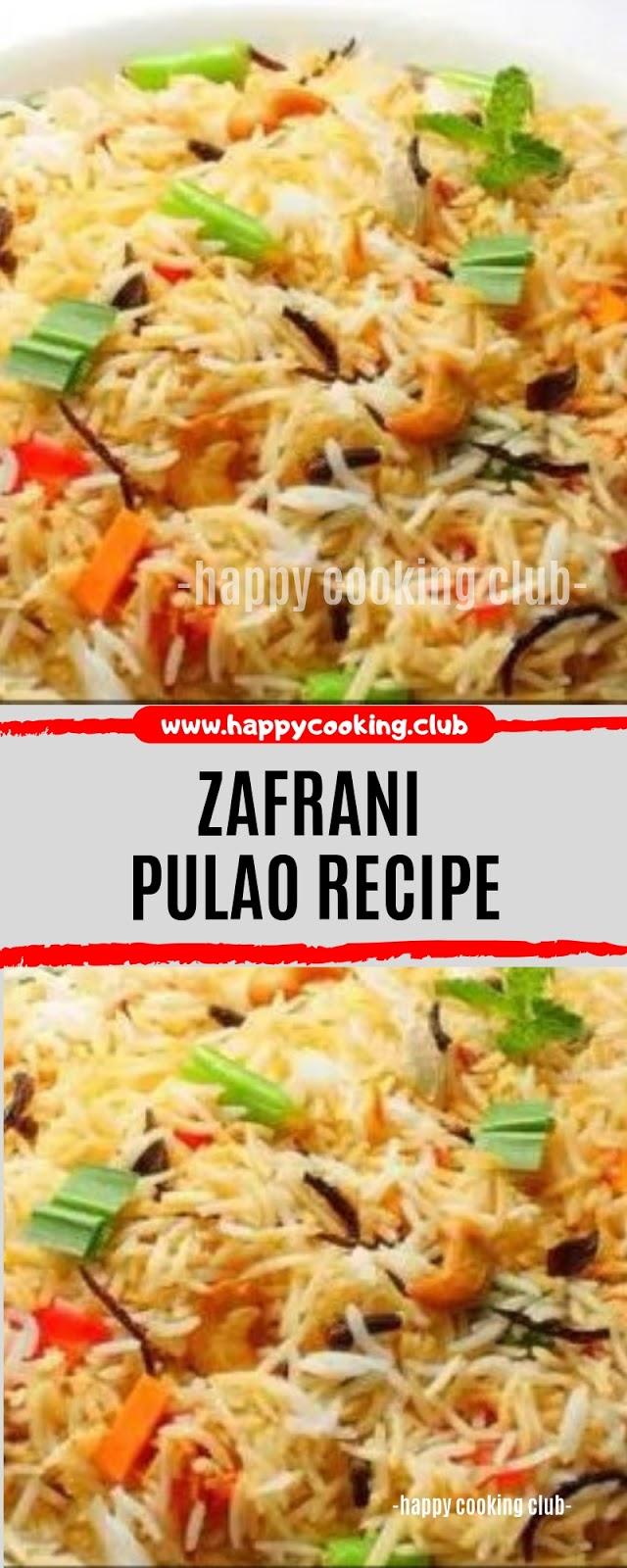 Zafrani Pulao Recipe