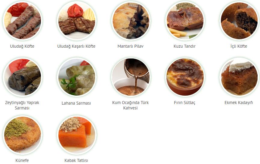 uludaG et lokantasi menu