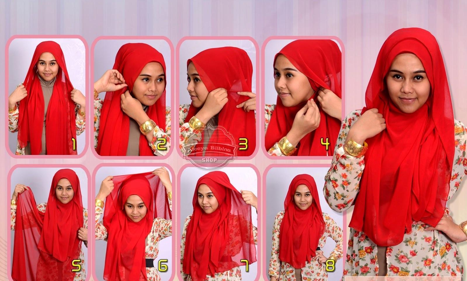 Si Wajah Bulat Akan Makin Cantik Dengan Tips Aplikasi Hijab Pashmina