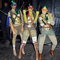 Disfraces las Tortugas Ninja (Rihanna y amigas)