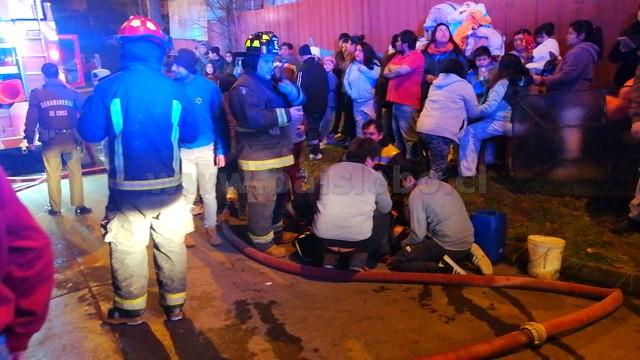 Voluntario de Bomberos lesionado