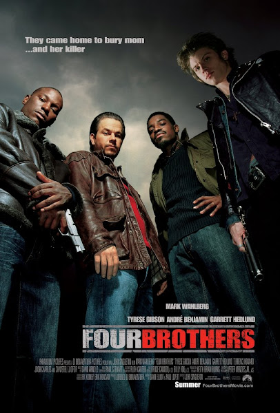 Poster of Four Brothers 2005 720p Hindi BRRip Dual Audio Full Movie Download