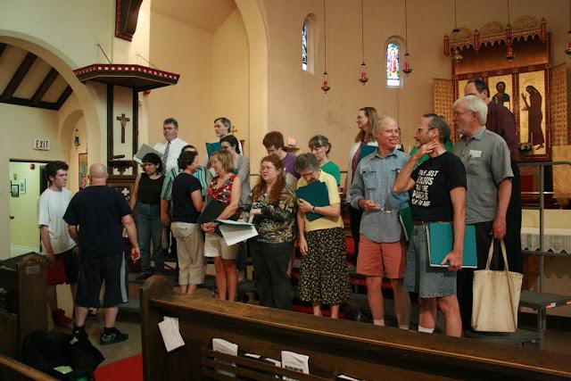 Rehearsal at St Barnabas