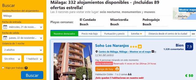 Como reservar hoteles en Booking