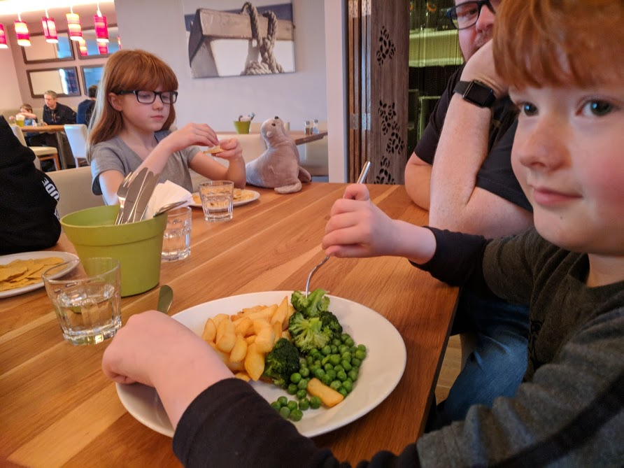 The Sands Resort Cornwall Review | A Family Hotel with Kids Club near Newquay  - kids supper