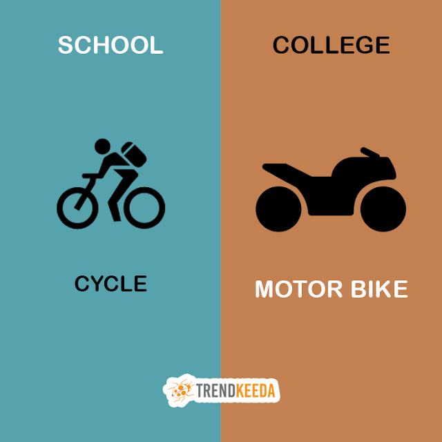 School-VS-College-Life-Cycle-Bike