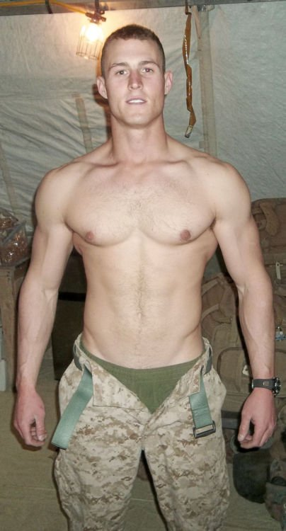 Naked male military
