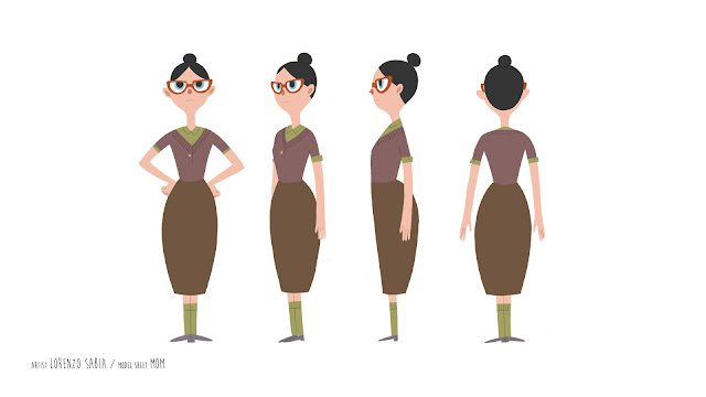 model sheet by Lorenzo Sabia
