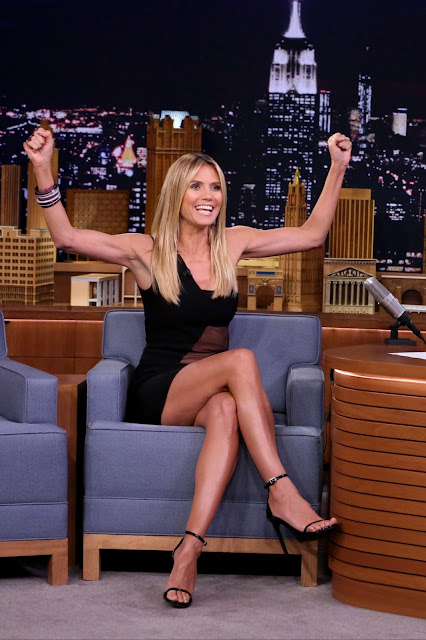 Heidi Klum Appeared on The Tonight Show With Jimmy Fallon in New York