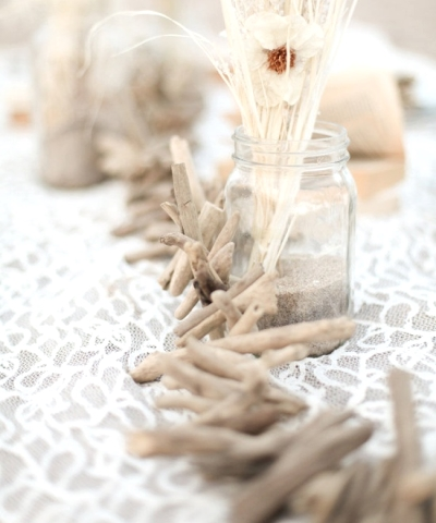driftwood garland table centerpiece