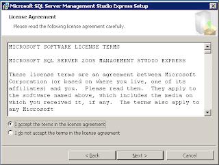 Installasi SQL Server 2005 Management Studio