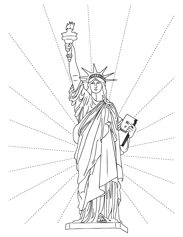 Statue Of Liberty Coloring Pages Free Printable Pictures