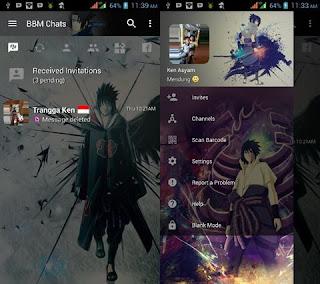 BBM MOD Tema Uchiha Sasuke v3.3.0.16 APK Versi Terbaru