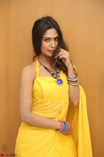 Nishigandha in Yellow backless Strapless Choli and Half Saree Spicy Pics 163.JPG