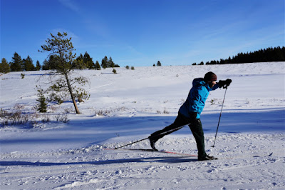 Cross country skiing at Cypress Hills Provincial Park