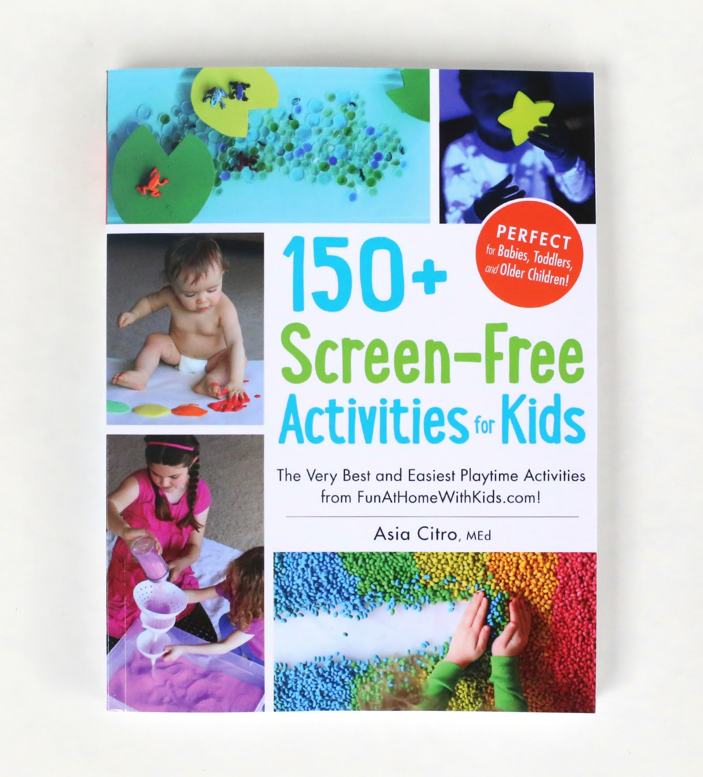 The 150+ Screen-Free Activities for Kids book has 72 activities for babies!  It would make a great creative baby shower gift.