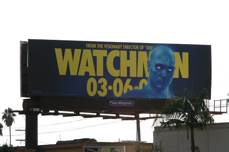 Dr Manhattan Watchmen billboard