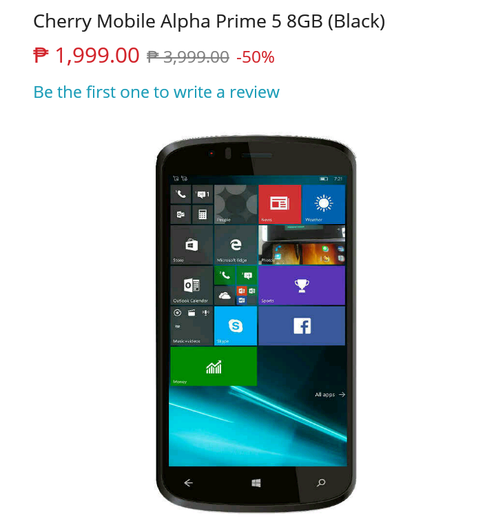 Sale Alert: Cherry Mobile Alpha Prime 5 Is Priced At Just PHP 1999!