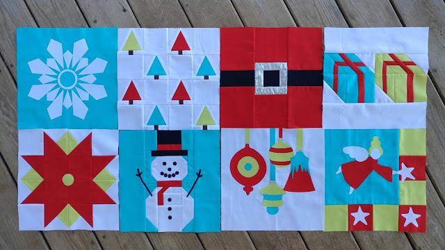 Christmas quilt along blocks 1-8