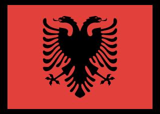 Albania flag Logo Vector