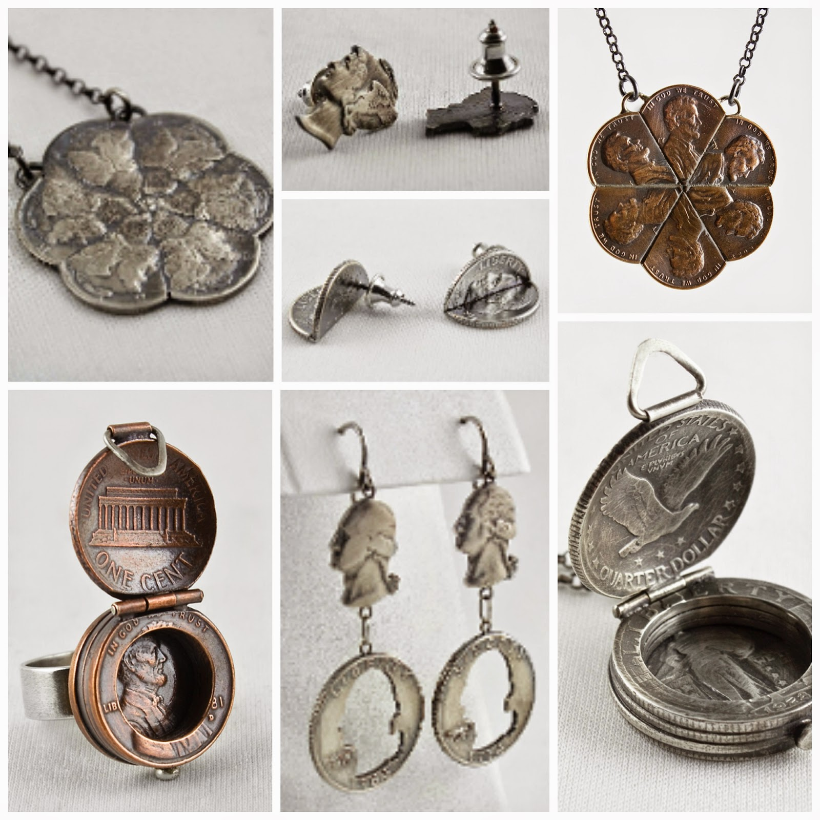 coin art jewelry