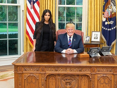 Exclusive! See Photos Of Kim Kardashian as She Meets President Trump
